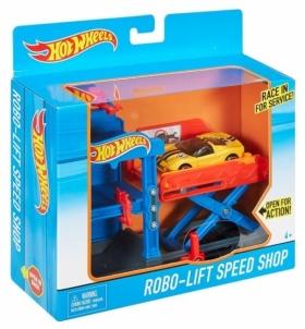 Konstruktorius DWL02 / DWK99 Hot Wheels Robo-Lift Speed Shop Playset