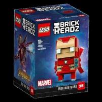 Konstruktorius LEGO BrickHeadz 41604 Iron Man MK50