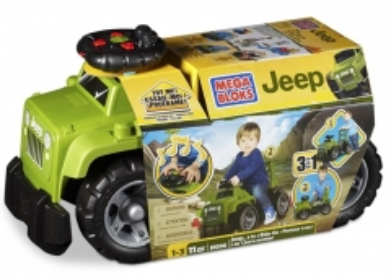 Konstruktorius Mega Bloks 81000 Jeep džimas Ride-On , 3 in 1