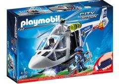 Konstruktorius Playmobil 6874 Polizei-Helikopter mit LED-Suchscheinwerfer
