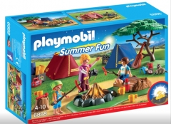 Konstruktorius Playmobil 6888 Tent Camping with LED Fire