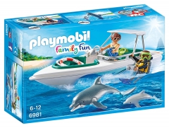 Konstruktorius Playmobil 6981 Diving Trip with Speedboat