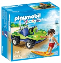 Konstruktorius Playmobil 6982 Surfer with Beach Quad LEGO ir kiti konstruktoriai vaikams