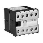 Kontaktorius mini, 3kW, 7,5A, 230V, 4NO, su galimybe jungti papildomus kontaktus, CEC07.10, ETI 04641054 Kontaktoriai