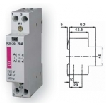 Kontaktorius modulinis, 27,7kW, 40A, 230V, 3NO+1NC, R40-31, ETI 02463420 Kontaktoriai