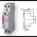 Kontaktorius modulinis, 4,6kW, 20A, 230V, 1NO+1NC, R20-11, ETI 02461220