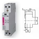 Kontaktorius modulinis, 43,6kW, 63A, 230V, 4NO, R63-40, ETI 02463450 Kontaktoriai