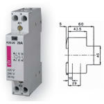 Kontaktorius modulinis, 5,8kW, 25A, 230V, 2NO, R25-20, ETI 02463502 Contactors