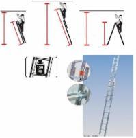 Kopėčios universalios KRAUSE Secury Multigrip Aliuminės 2dalių x 9pakopų Лестница