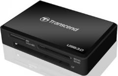 Kortelių skaitytuvas Transcend  USB3.0/2.0 Juodas