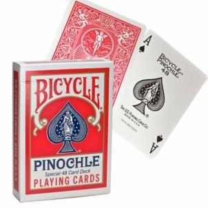 Kortos Bicycle Pinochle (Raudonos)