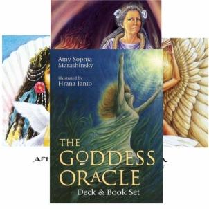 Kortos Oracle The Goddess ir knygų rinkinys