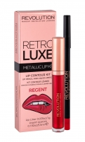 Cosmetic set Makeup Revolution London Retro Luxe Regent Metallic Lip Kit Lipstick 5,5ml