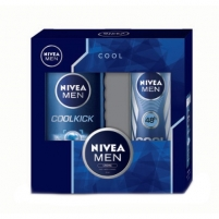 Kosmetikos rinkinys Nivea Men Cool Kick Shower Gel Kit Cosmetic 430ml Kosmetikos rinkiniai