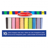 Kreidelės 10 Jumbo Triangular Chalk Stick 10pcs.