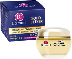 Dermacol Gold Elixir Rejuvenating Caviar Day Cream Cosmetic 50ml Creams for face