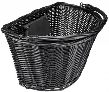 Krepšelis priekiui Azimut Wicker NEW laikiklis 35x26x22cm black Dviračių priedai