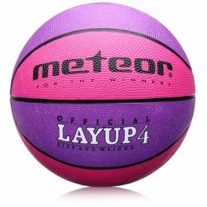 Krepšinio kamuolys METEOR Layup #4 Rožinis Krepšinio kamuoliai