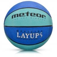Krepšinio kamuolys METEOR LAYUP #5 Mėlynas