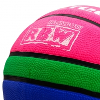 Krepšinio kamuolys Meteor Training 6 rožinė/žalia/mėlyna
