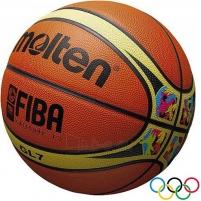 Krepšinio kamuolys Molten BGL7-WCM FIBA natūrali oda Krepšinio kamuoliai