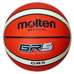 Krepšinio kamuolys oranžinis/baltas 5
