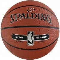 Krepšinio kamuolys SPALDING NBA SILVER OUTDOOR 2017 Basketbola bumbas