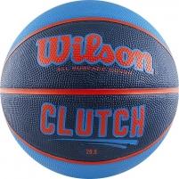 Krepšinio kamuolys WILSON CLUTCH WTB14197XB07 blue-black, red logo Krepšinio kamuoliai