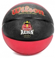 Krepšinio kamuolys WILSON RED BULL REPLICA WTB2205XB07 black-red Basketball balls