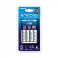Kroviklis Eneloop White charger K-KJ51MCC40E basic + 4 white AA batteries (1900mAh)/ Life Cycles: 2100 Fotoaparatų krovikliai/ baterijos