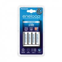 Eneloop White charger K-KJ51MCC40E basic + 4 white AA batteries (1900mAh)/ Life Cycles: 2100