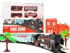 Krovininis traukinys su bėgiais Geležinkelis vaikams