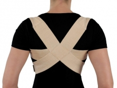 Krūtinės-juosmens įtvaras KR1-1R, juodas, S Sporta zāles