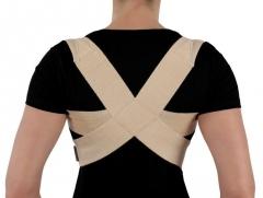 Krūtinės-juosmens įtvaras KR1-1R, juodas, XL