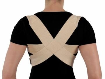 Krūtinės-juosmens įtvaras KR1-1R, juodas, XS