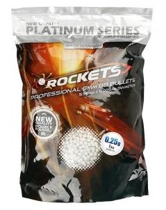 Kulkos AEG 0,25g Rocket Platinum 4000vnt/ 1kg BB šratai, dujos