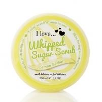 Kūno pylingas I Love peeling whipped sugar aroma of lemon sorbet (Lemon Sorbet Whipped Sugar Srub) 200 ml Kūno šveitikliai