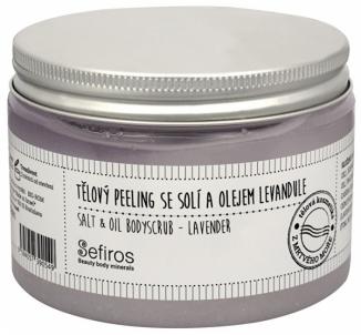 Kūno pylingas Sefiros Levandule (Salt & Oil Bodyscrub) 300 ml Ķermeņa skrubji