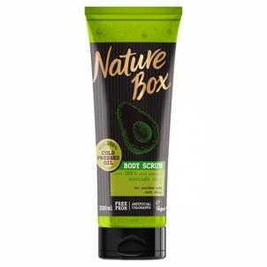 Kūno šveitiklis Nature Box Natural Body Peeling Avocado Oil ( Body Scrub) 200 ml Kūno šveitikliai