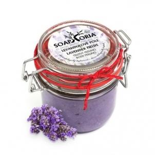 Kūno šveitiklis Soaphoria Natural Body Scrub Lavender field (Lavender Fields Body Peeling) 250 ml Kūno šveitikliai