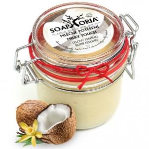 Kūno šveitiklis Soaphoria Natural Body Scrub Milk pleasure (Milky Touch Body Peeling) 255 ml Kūno šveitikliai
