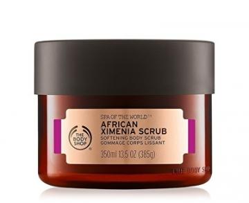 Kūno šveitiklis The Body Shop Softening Body Scrub Spa of the World (African Ximenia Softening Body Scrub) 350 ml Kūno šveitikliai