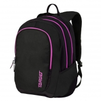 Kuprinė 3 ZIP BLACK PAMPERO PINK 26190