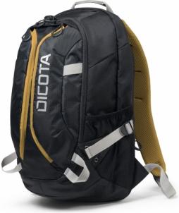 Kuprinė Dicota Backpack Active 14-15,6 juodai geltona