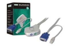 KVM komutatorius Digitus usb - mini (elektroninis)