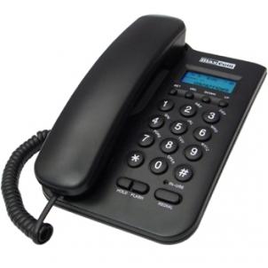 Bevielis telefonas MaxCom KXT100 laidinis telefono aparatas, juodas
