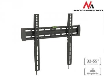 Laikiklis Maclean MC-643 Ultra Slim TV Wall Mount Bracket LCD LED Plasma Flat Curved 32-55 TV stovai, laikikliai