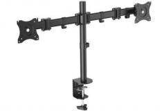 Laikiklis Mount Monitor Stand, 2xLCD, max. 27, max. load 8kg, adjustable and rotated 360