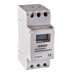 Laikmatis elektroninis, su LCD, 230VAC/50Hz, IP20, max 3680W/16A, ORNO, OR-PRE-414 Time relay