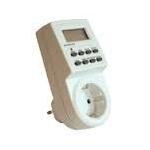 Laiko rėlė (laikmatis) elektroninis, su įžeminimu (2P+E), savaitinis, į rozetę, 2000W, GTV PC-ELE724-SC Time relay
